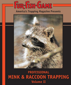 Fur Fish Game Professional Mink and Raccoon Trapping DVD PMRT